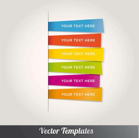 Design moderne modèle style coloré Nombre d'options Banner & Card. Vector illustration