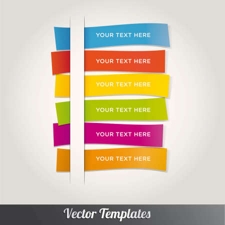 infocharts: Modern Template Design Colorful Style Number Options Banner & Card. Vector illustration