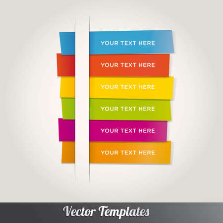 Modern Template Design Colorful Style Number Options Banner & Card. Vector illustration Stock Vector - 17798041