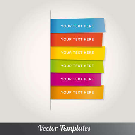 infocharts: Modern Template Design Colorful Style Number Options Banner &amp, Card.