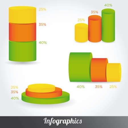 set infographic vector illustration. Information Graphics Vector