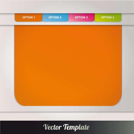 Template illustration Stock Vector - 17995561