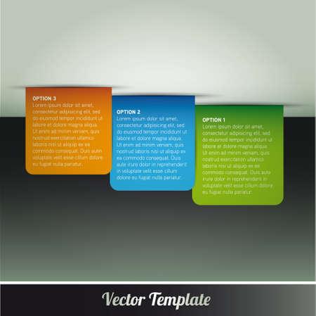 Template, vector eps10 illustration Vector
