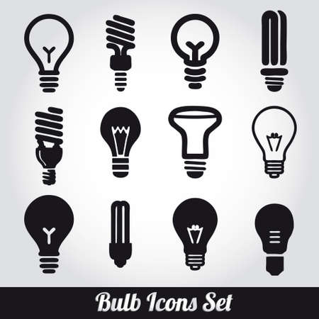 energy save: Light bulbs. Bulb icon set