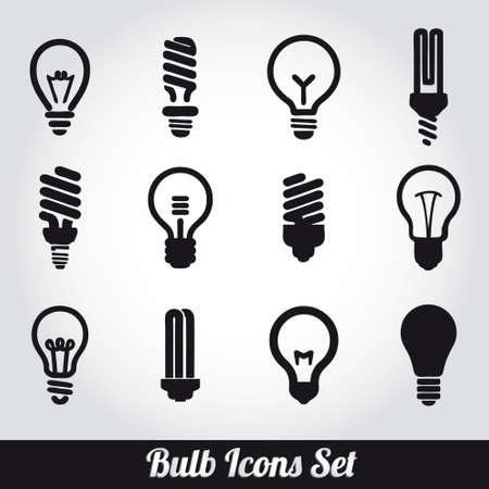 lightbulb idea: Lampadine. Lampadina set di icone