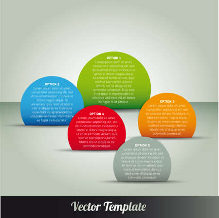 Template, vector eps10 illustration Vectores