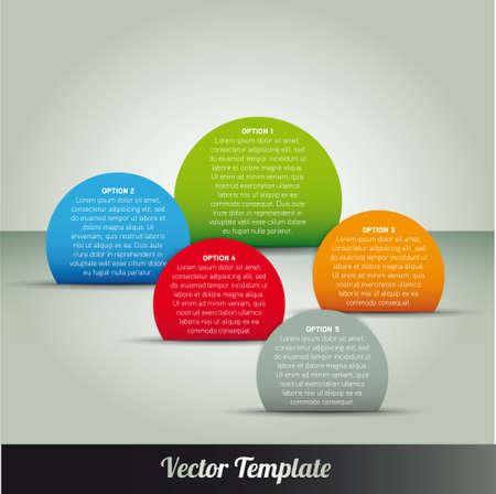 Template, vector eps10 illustration Illustration
