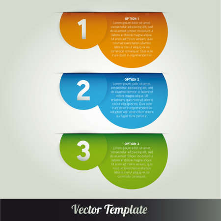 Template, illustration Vector