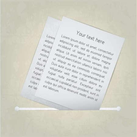 Paper note. Vector Vector