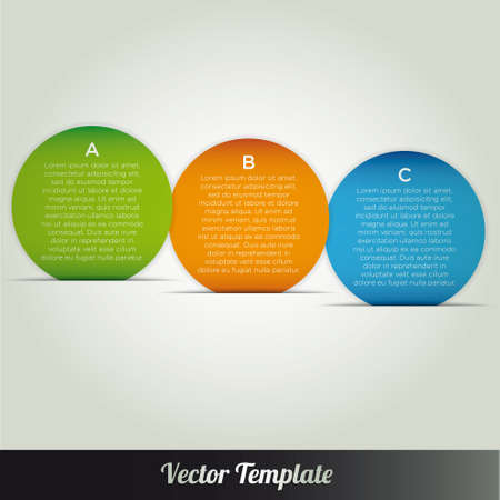 Template vector infographic banner Stock Vector - 18976470