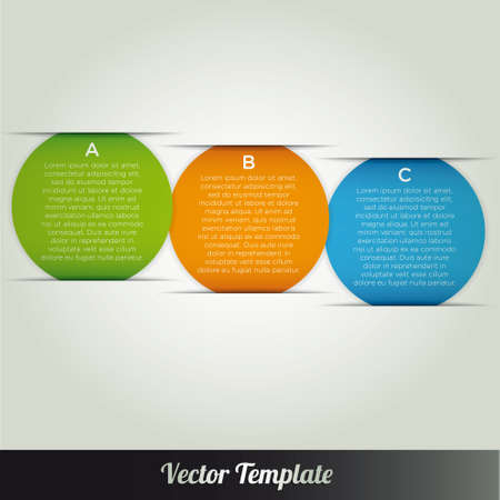Template vector infographic banner Stock Vector - 18976471