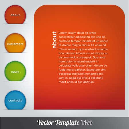 Web design template vector Stock Vector - 18976475