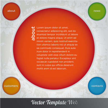 Web design template vector Stock Vector - 18976477