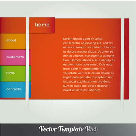 Web design template vector Stock Vector - 18976476