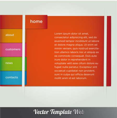 Web design template vector Stock Vector - 18976476