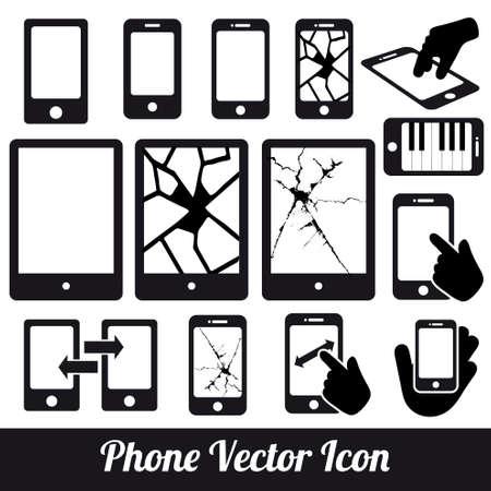 Phone touch  communication icons Illustration