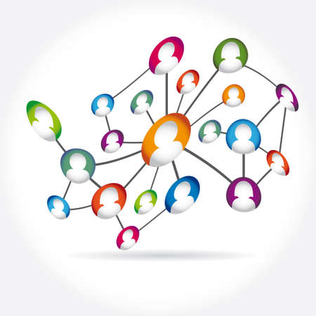 social media icon group element Stock Vector - 19263476