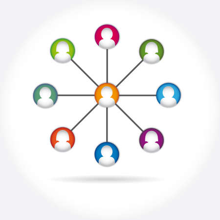 social media icon group element