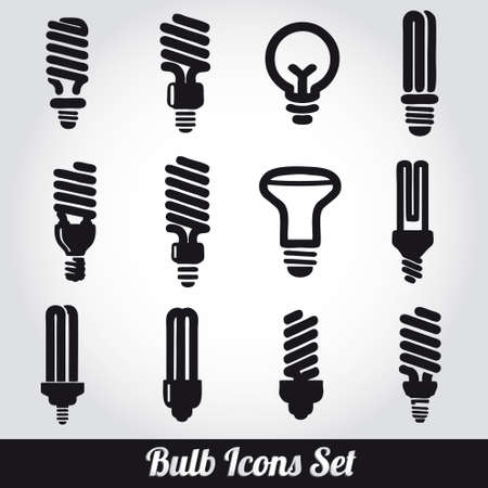 Light bulbs  Bulb icon set Stock Vector - 19263494