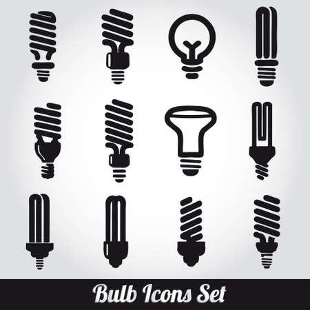 Light bulbs  Bulb icon set Stock Vector - 19263494