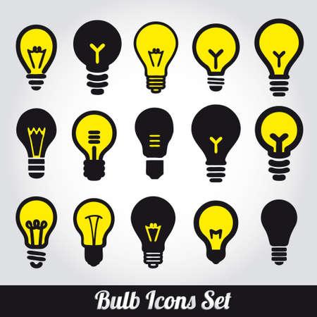 light bulbs: Bombillas Bombilla icon set Vectores
