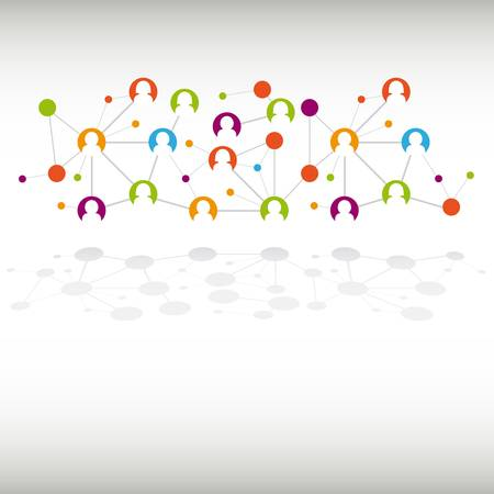 Social network internet chat community communication  Vectores