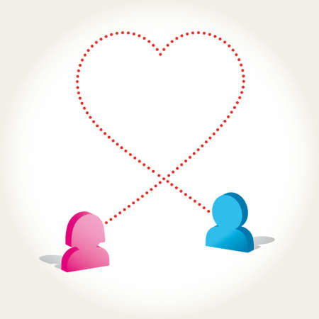 Social networks concept love icon  Vector