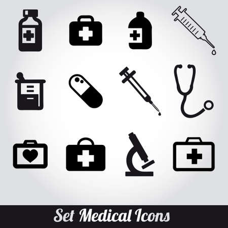 set of medical icons Stock Vector - 19337657