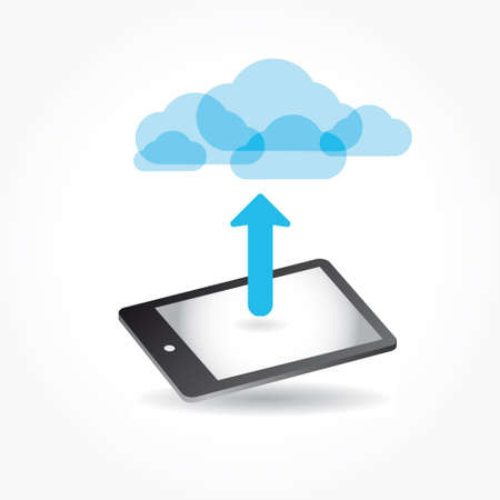 cloud app icon on mobile phone vector icons set Vector