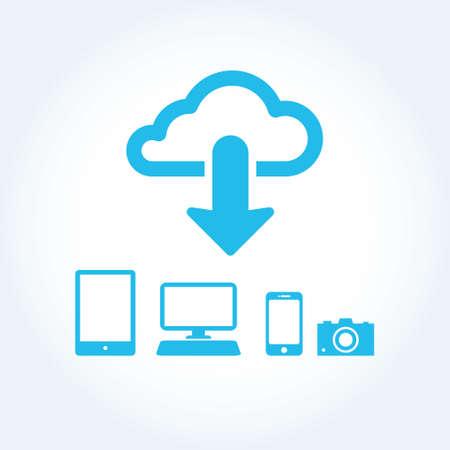 cloud app icon mobile phone vector Stock Vector - 19424969