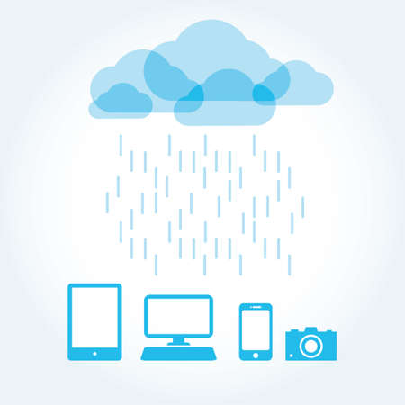 cloud app icon mobile phone vector Vector