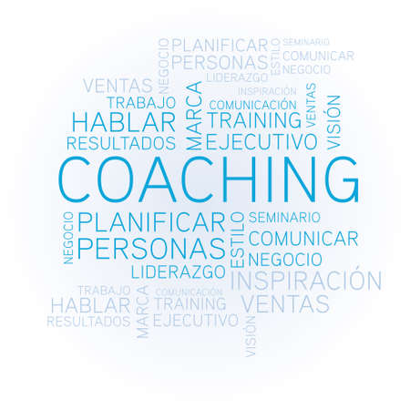 Coaching concept related spanish words in tag Stock Vector - 20229687