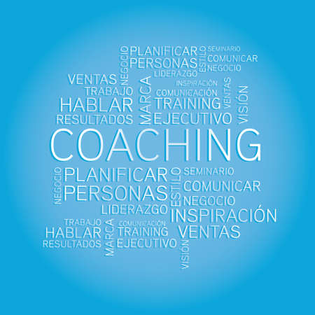 Coaching concept related spanish words in tag Stock Vector - 20229691