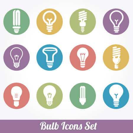 by light: Light bulbs. Bulb icon set