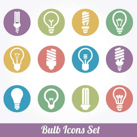 Bombillas. Bulb icon set Foto de archivo - 20230746
