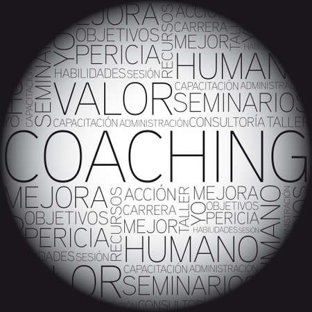 Coaching concept related words in tag cloud Stock Vector - 20229698