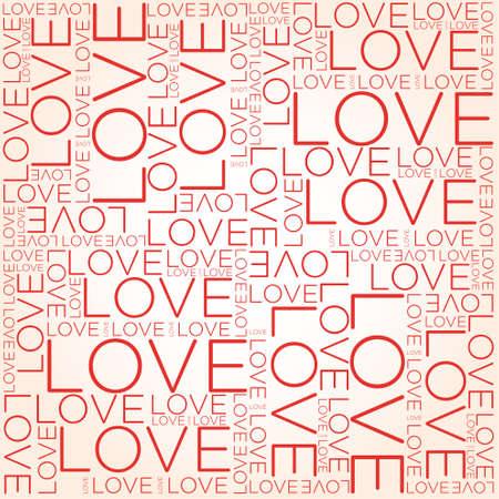 사랑 단어의 콜라주