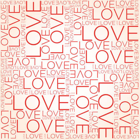 carta de amor: Amor palabra collage
