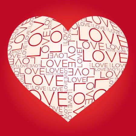 love cloud: Love word collage