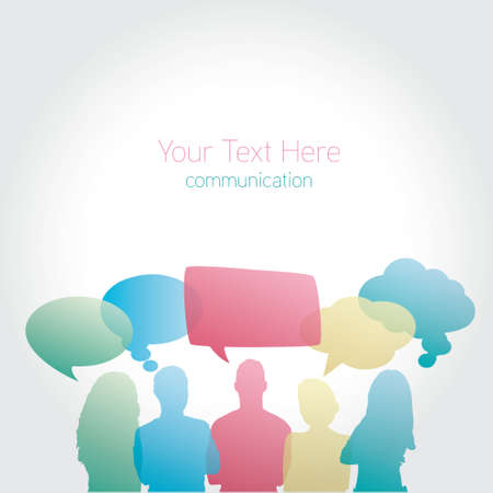 personas comunicandose: Las personas se comunican vector medios de comunicación social,