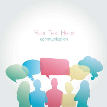 communicating: People communicating vector social media
