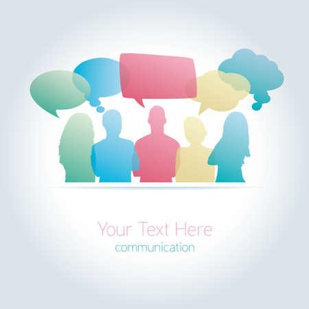 通信の人々 がソーシャル メディアをベクトルします。