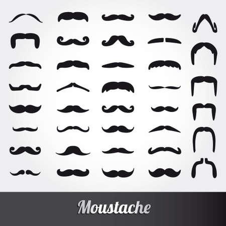 Set of mustache vector