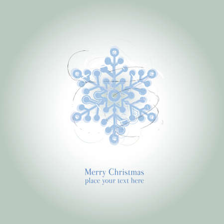 christmas snow: Christmas and New Year beautiful card, graphic christmas star for design