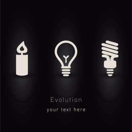 evolution of lighting vector Stock Vector - 21967053