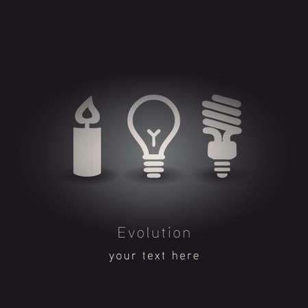 led light bulb: evolution of lighting  Illustration