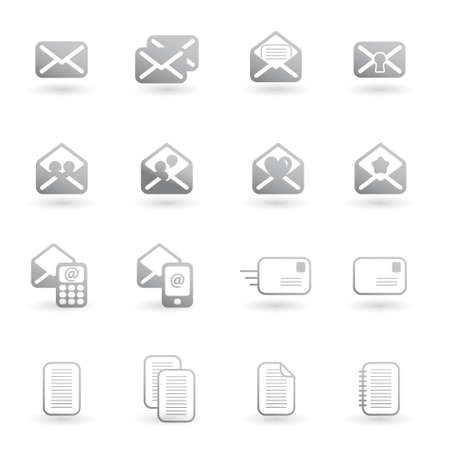 unread: set of mail icons vector