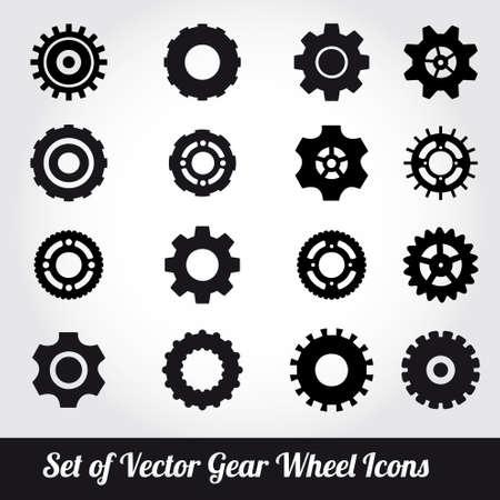 Gear wheels icons vector set  Vector
