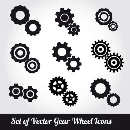 driven: Gear wheels icons vector set  Illustration