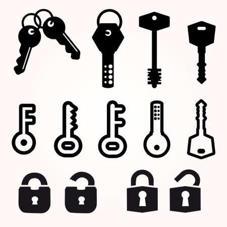 passkey: Icon Key, Black Silhouette